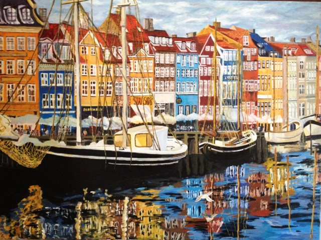 Related Keywords Amp Suggestions For Nyhavn Painting